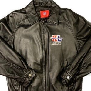 Vintage 2006 Super Bowl NFL Leather Jacket